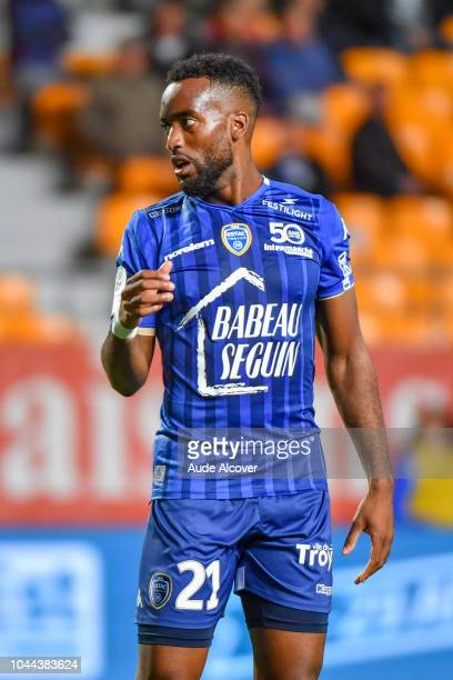 Yoann Salmier of Troyes during the French Ligue 2 match between Troyes and Auxerre at Stade de l'Aube on October 1 2018 in Troyes France