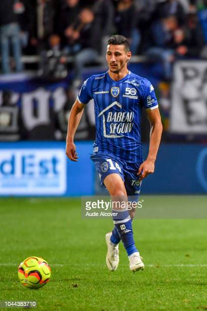 Yoann Touzghar of Troyes during the French Ligue 2 match between Troyes and Auxerre at Stade de l'Aube on October 1 2018 in Troyes France