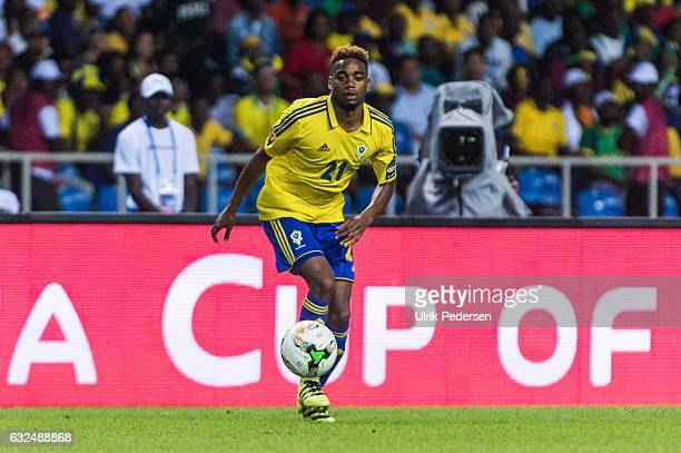 Yoann Wachter of Gabon during the African Nations Cup match between Cameroon and Gabon at Stade de L'Amitie on January 22, 2017 in Libreville, Gabon.