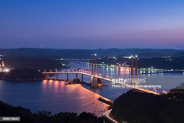 yobuko bridge, karatsu, saga, japan - 佐賀県 ストックフォトと画像