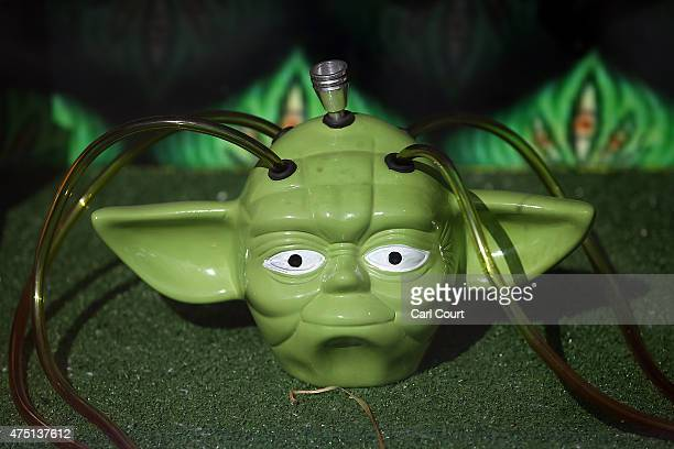 Yoda bong is pictured in the window of a shop selling legal highs and smoking paraphernalia on May 29 2015 in Brighton England There has been a...
