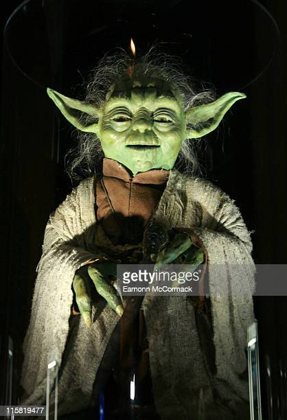 Yoda during 'Star Wars' The Exhibition at County Hall in London Great Britain
