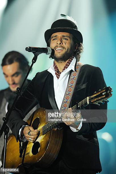 Yodelice performs during the '25th Victoires de la Musique' ceremony held at the Zenith in Paris