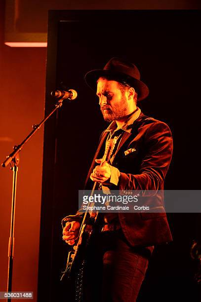 Yodelice performs on stage during the Ceremony of 'Les Grands Prix De La SACEM 2014' at L'Olympia on November 24 2014 in Paris France