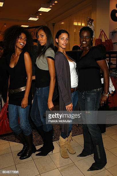 Yodit Gebremichael Angelique Nina Mansker and attend Shopping Party hosted by HOUSE OF DEREON at Macy's on State Street on September 28 2006 in...