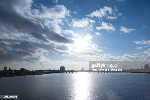 Yodo River in the blue sky