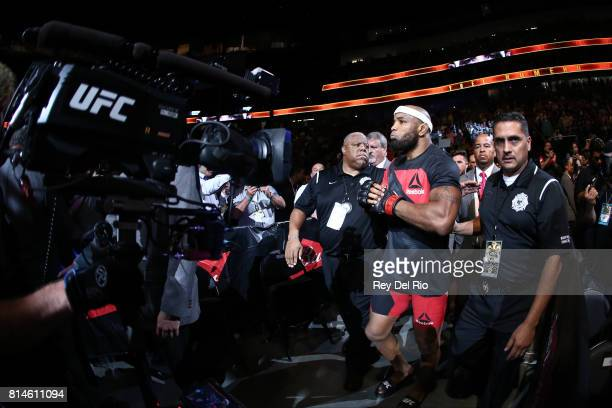 Yoel Romero enters the Octagon prior to his interim UFC middleweight championship bout against Robert Whittaker during the UFC 213 event at TMobile...