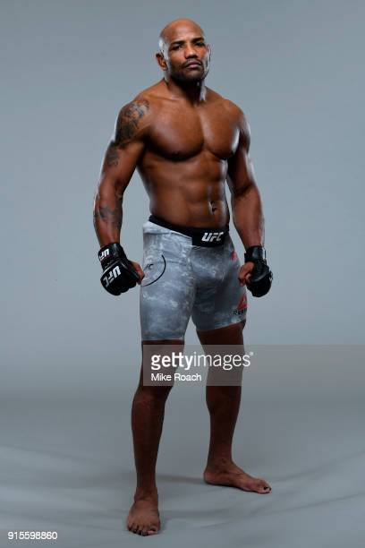 Yoel Romero of Cuba poses for a portrait during a UFC photo session on February 7 2018 in Perth Australia
