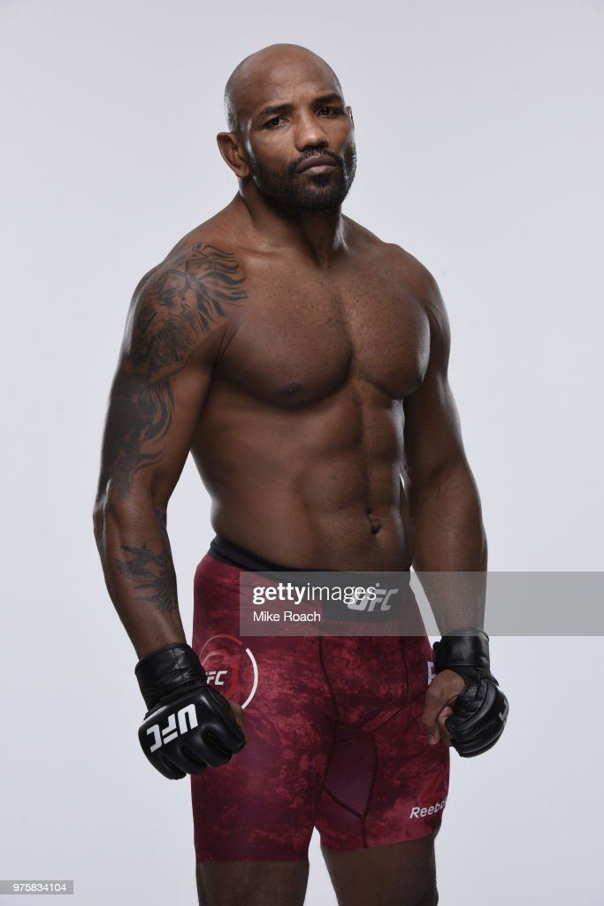 Yoel Romero of Cuba poses for a portrait during a UFC photo session on June 7, 2018 in Chicago, Illinois.