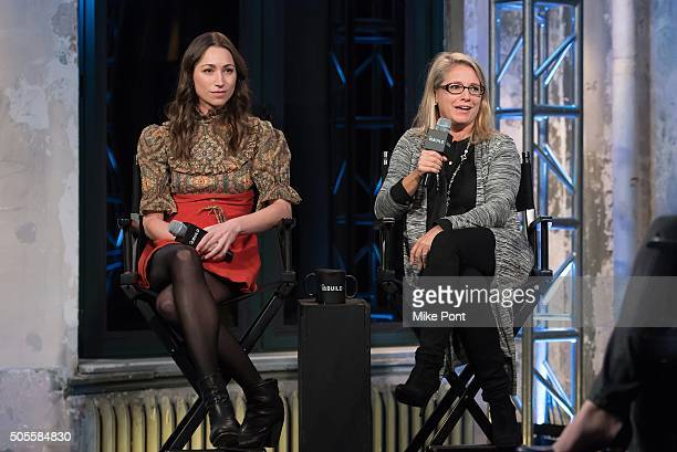 Yoga and fitness expert Tara Stiles and AOL's Chief People Officer Terri Zandhuis attend the AOL Build Speaker Series to discuss better eating habits...