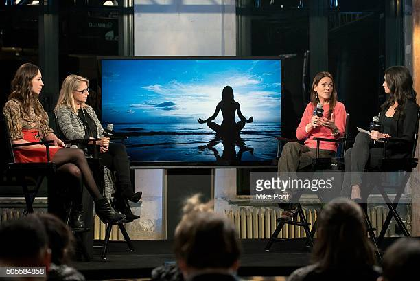 Yoga and fitness expert Tara Stiles AOL's Chief People Officer Terri Zandhuis Dr Karen Latimer and Women's Health Magazine Fitness Director Jen Ator...