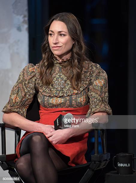 Yoga and fitness expert Tara Stiles attends the AOL Build Speaker Series to discuss better eating habits and health and wellness at AOL Studios In...