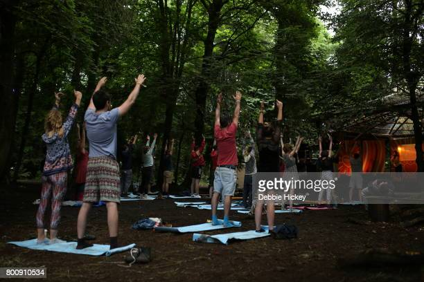 Yoga and Mindfulness performed at The Woodlands Stage at Body Soul Festival at Ballinlough Castle on June 25 2017 in Co Westmeath Ireland