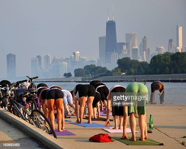 Yoga at Belmont Harbor, Chicago
