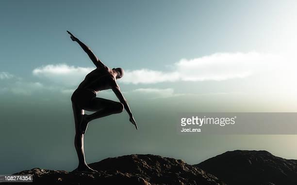 Yoga At Dawn (Vrksasana)