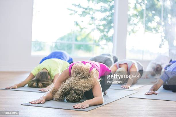 Yoga Class at the Gym