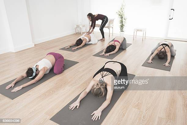 Yoga class for pregnant woman