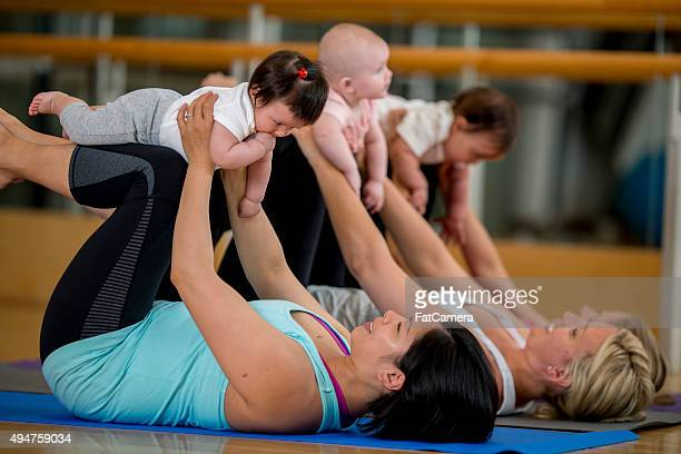 Yoga Class with Mothers and Babies