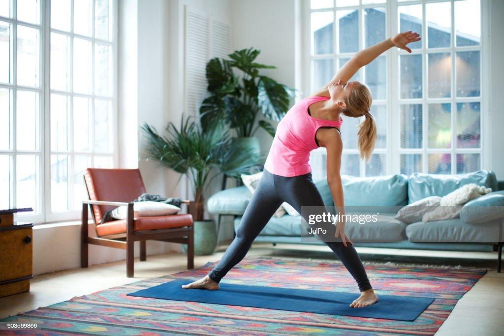 Yoga classes : Foto de stock