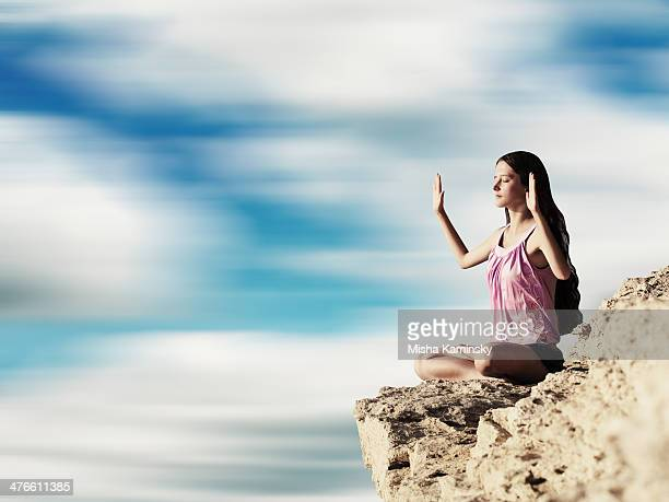Yoga exercise (Padmasana)