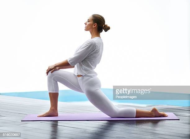 Yoga gives her a way to unwind