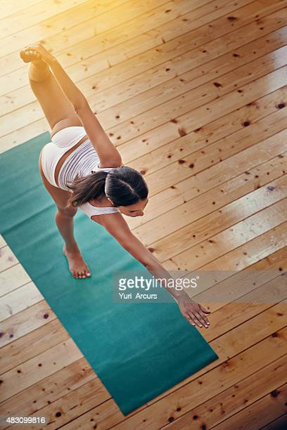 Yoga gives her body a full workout