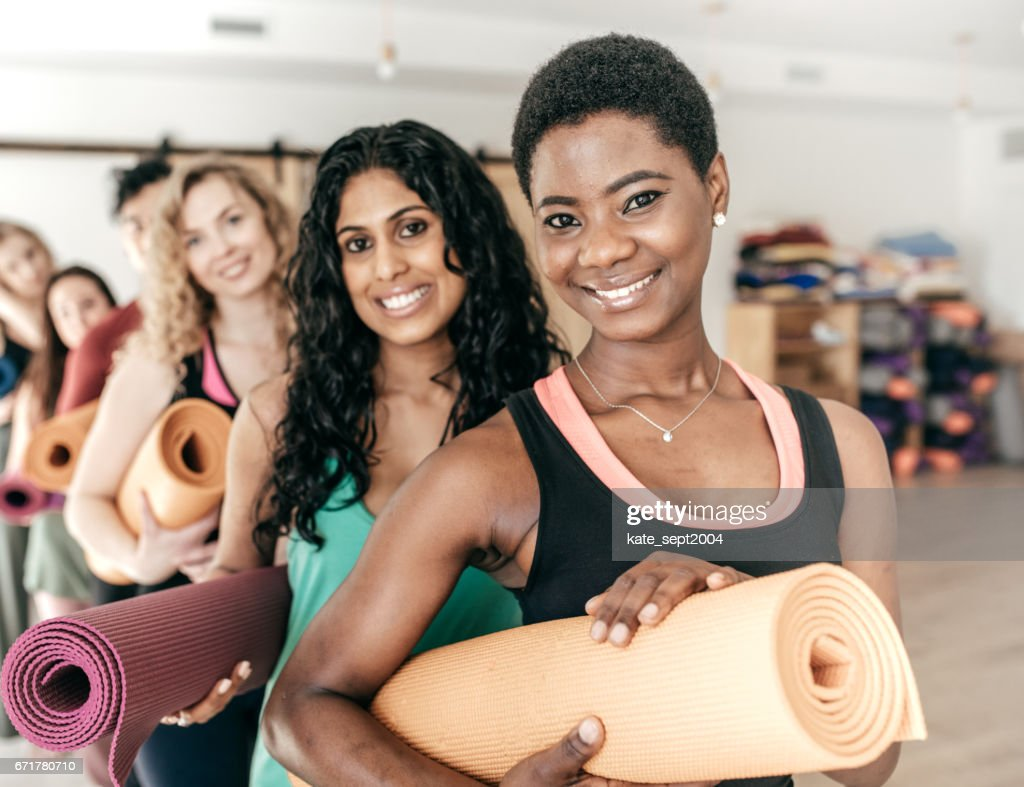 Yoga group : Stock Photo