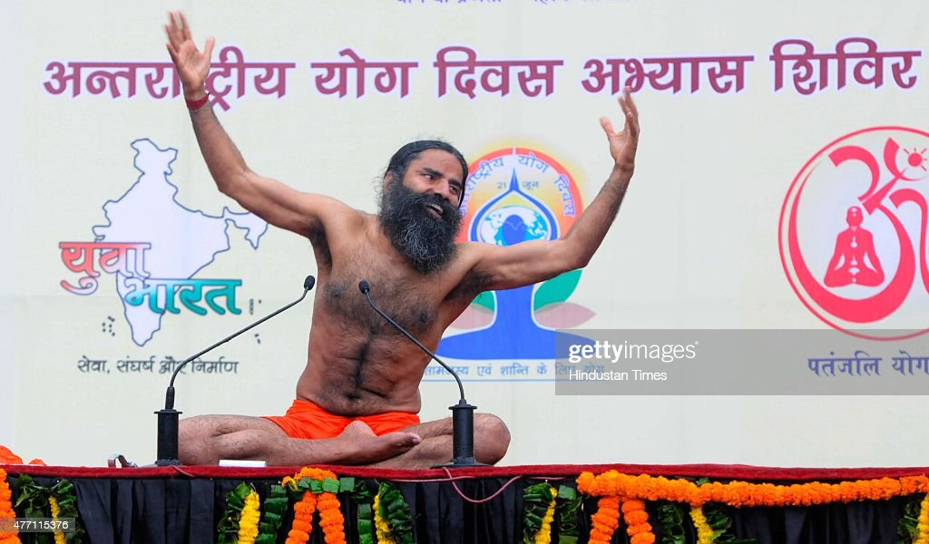 Yoga Guru Baba Ramdev During The Training Camp For International Day Organized