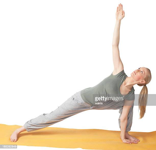 yoga - gymnastics of a young woman