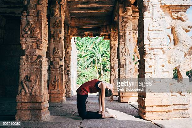 Yoga in temple