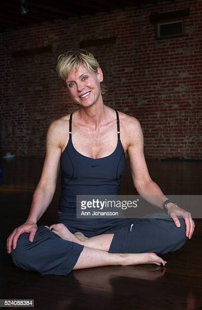 Yoga instructor Kimberly Fowler at YAS Yoga and Spinning Center in Venice