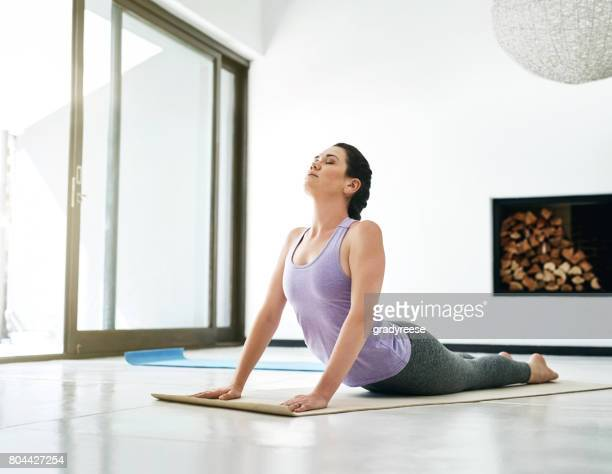 Yoga is designed to stretch and strengthen the body