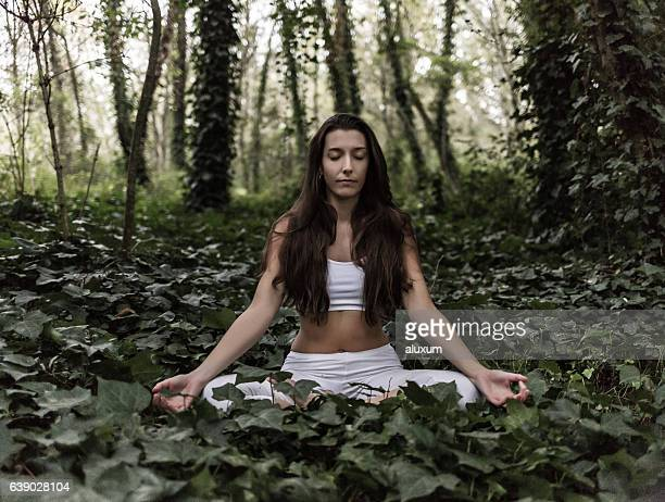 Yoga meditation in nature