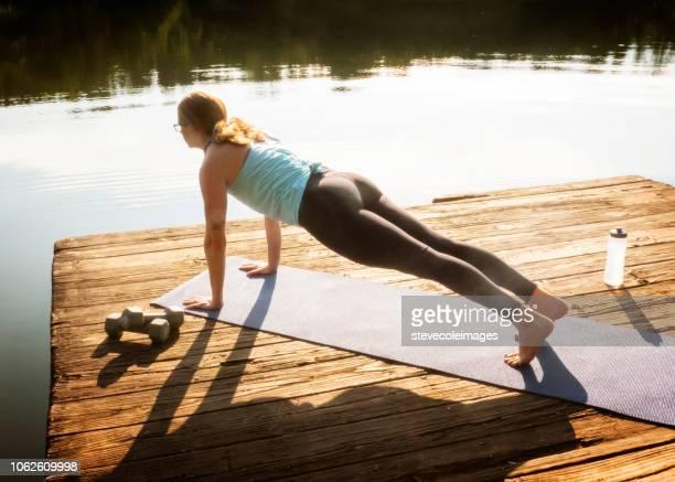 Yoga on Dock