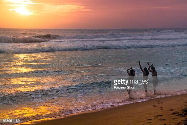 Yoga on kerala beach