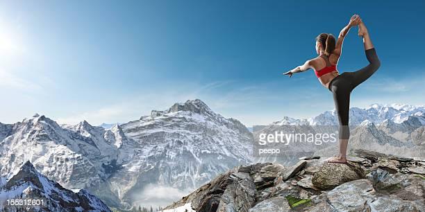 Yoga on Mountain