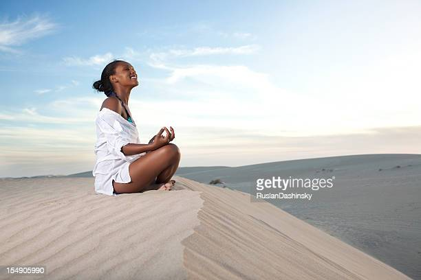 Yoga physical and mental relaxation.