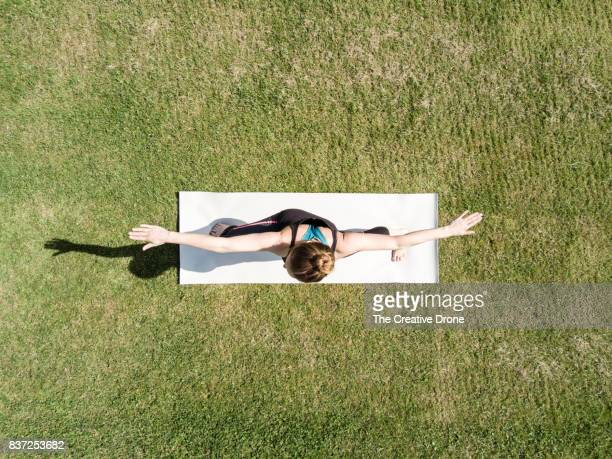 yoga - directly above stock pictures, royalty-free photos & images