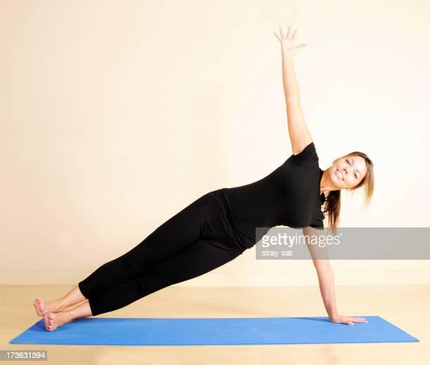 Yoga: Stretch de planche de côté