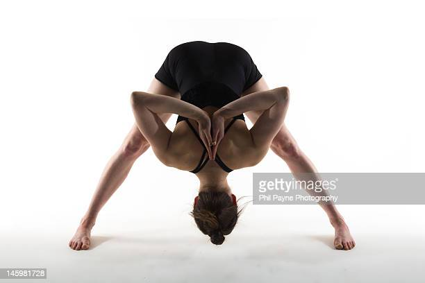 Yoga standing forward bend position