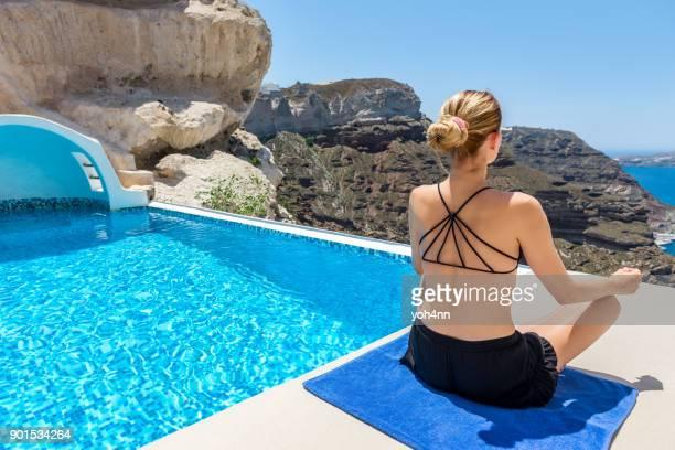 yoga & summer escape - yogi stock photos and pictures