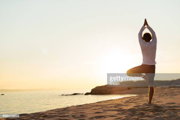 Yoga: tree position