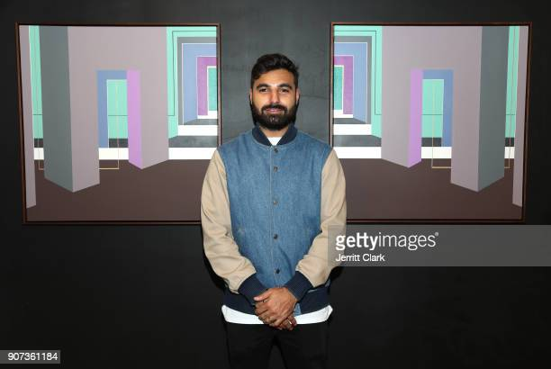 Yogi attends the 'For Your Information' PopUp Art Show hosted by FYI Brand Group And Joseph Gross Gallery on January 19 2018 in Los Angeles California