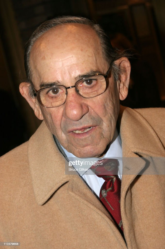 Yogi Berra during Billy Crystal Makes His Broadway Debut in '700 Sundays' at The Broadhurst Theater/Tavern on the Green in New York, NY, United States.
