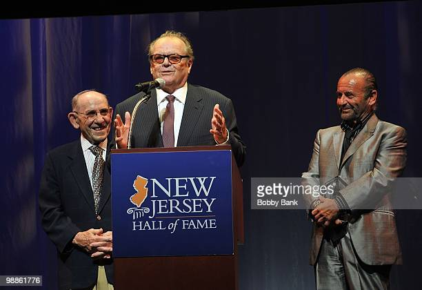 Yogi Berra Jack Nicholson and Joe Pesci attend the 3rd Annual New Jersey Hall of Fame Induction Ceremony at the New Jersey Performing Arts Center on...
