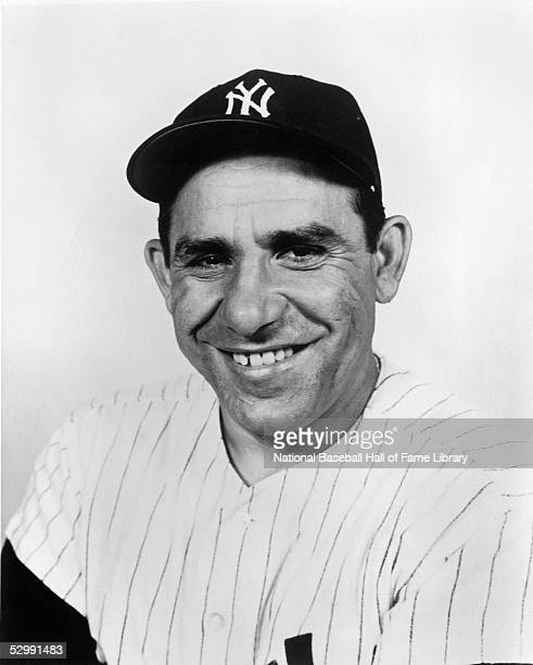 Yogi Berra of the New York Yankees poses for a portrait Yogi Berra played for the New York Yankees from 19461963