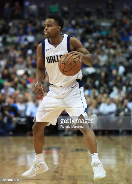 Yogi Ferrell of the Dallas Mavericks in the second half at American Airlines Center on November 29 2017 in Dallas Texas NOTE TO USER User expressly...
