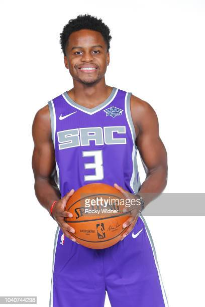Yogi Ferrell of the Sacramento Kings poses for a portrait at media day on September 24 2018 at the Golden 1 Center in Sacramento California NOTE TO...