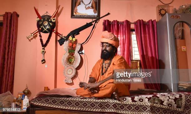 Yogi Peer Ramnath Maharaj head of a 20acre temple compound at his ashram on June 6 2018 in Ujjain India Yogi Peer Ramnath said he started a group...