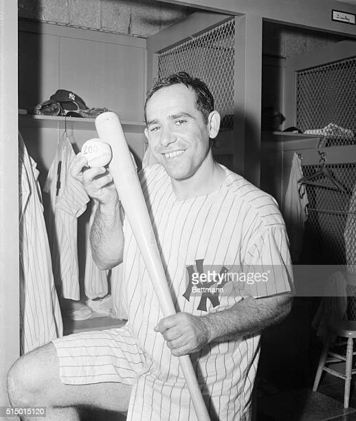 Yogi's 200th Homer Is on the Ball Bronx New York New York Yogi Berra of the Yanks who poled the 200th home run of his career in tonight's game with...